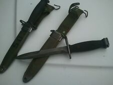 Vietnam Era Bayonet Fighting Knife with M8A1 Scabbard