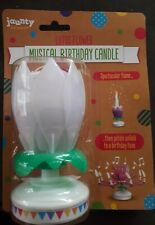 Musical lotus flower birthday candle WHITE