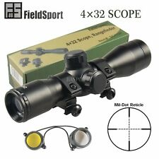 FieldSport Tactical 4X32 Compact Mil-Dot .223 .308 Scope /w Rings