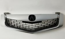 ACURA TSX 09-10 Replacement Grill Grille All Silver w/ MOULDING w/ Black Emblem