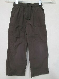 OSHKOSK Outdoor Active LINED Brown Cargo Pants size 4T - Elastic Waist