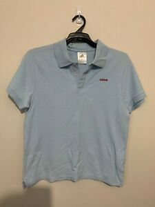 Womens ADIDAS Sky Blue Short Sleeve Polo Top - Size Large