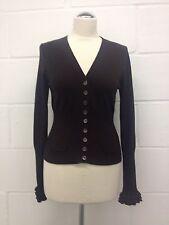 KAREN MILLEN Women's Dark Brown Cardigan Size 2 UK 10
