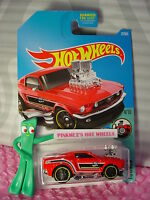 2017 Hot Wheels '68 Ford MUSTANG #27✰Red/black/chrome; pr5✰TOONED✰US CASE B