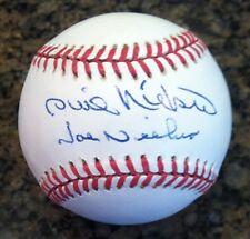 PHIL NIEKRO (HOF '97) & JOE NIEKRO (brothers) signed baseball PSA LOA