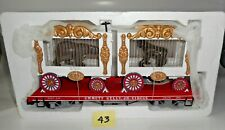 NEW MINT BACHMANN EMMETT KELLY JR CIRCUS TRAIN FLAT CAR WITH CAGES G SCALE 43
