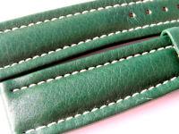 22mm Breitling Band 168X 22/18 Kalb grün green Strap für Dornschliesse 022-22