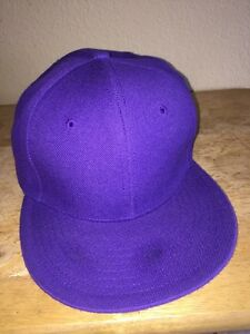 D SPORT Blank Purple Fitted Size 7 3//8 Adult Baseball Ball Cap Hat NEW