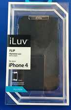 New I-Luv flip holster case & screen protector  black iPhone 4 RRP $29.95 Apple