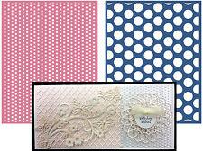 Spotted Lifestyle Crafts Embossing Folders EF0024 polka dot embossing folder set