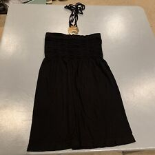 XOXO Little Black Halter Top Dress Size S/M