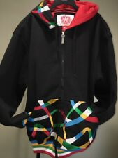 4 father Black Multicolors Hoodie Jacket Women's XL16-18