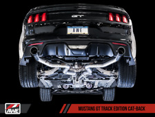 AWE 2015-2017 FORD MUSTANG GT FASTBACK 5.0L TRACK EXHAUST SYSTEM WITH BLACK TIPS