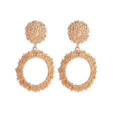 Women Gold Silver Geometric Statement Drop Dangle Earrings Wedding Jewelry Gifts