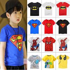 fumetto per bambini T Shirt da manica corta SUPERMAN BATMAN Estate Maglietta