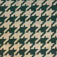 "54"" Wide Drapery Upholstery Houndstooth Chenille Fabric Hunter By the Yard"