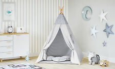 Tipi Zelt für Kinder Spielzelt Indianer Baumwolle 3 Kissen Kinderzelt drinnen dr