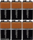 6 Pcs Brand New 9V 9 Volt 9 V Duracell CopperTop Battery MN1604 6LR61 Exp 2020
