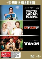 Forgetting Sarah Marshall / The 40 Year Old Virgin / Knocked Up (DVD, 2008, 3-Di