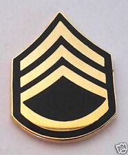 US ARMY RANK  E6 STAFF SERGEANT Military Veteran Hat Pin 14427 HO