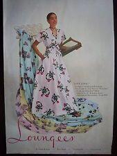 Retro Loungees Womens Lingerie Everglaze Chintz Ameritex Fabric Ad