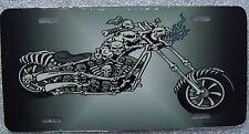 Metal Skulls Motorcycle Novelty License Plate