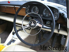 FITS MG MGB BLACK LEATHER STEERING WHEEL COVER 1962-1976 TOP QUALITY