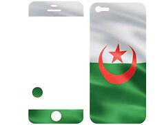 COQUE  iphone 5 EN RESINE 3D STICKERS REPOSITIONNABLE DRAPEAU ALGERIE N° 36