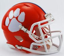 *CUSTOM* CLEMSON TIGERS Riddell Revolution SPEED Mini Football Helmet NCAA