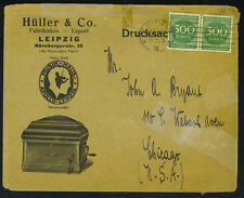 Germany 1923 Leipzig Advertising Cover Some Repaired Tears See Scans