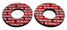 Robinson early logo old school BMX bicycle grip foam donuts RED (LICENSED)