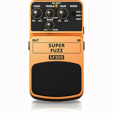 Behringer SF300 Super Fuzz Distortion Guitar Effects Stompbox Pedal