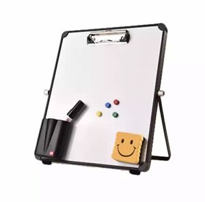 New Erasable Magnetic Whiteboard Message Reusable Stand Mini Easel With Clip