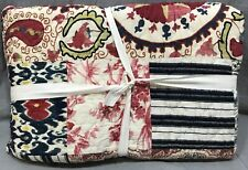 Pottery Barn Malbi Patchwork Cotton King Quilt