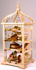 Woodworking plan for building a Bell Tower marble raceway game