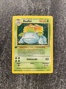 1st Edition Bisaflor German Venasaur Holo Rare Pokemon Card Base Set 15/102