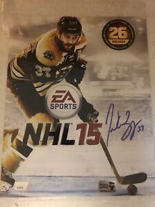 Patrice Bergeron Boston Bruins Signed Autographed EA Sports NHL 15 Cover 8x10