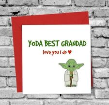 STAR WARS GREETINGS CARD FATHERS DAY GRANDAD FUNNY LOVE YODA BIRTHDAY CHRISTMAS