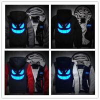 Anime Pokemon go Gengar Pocket Monsters Jacket Luminous Sweatshirts Hoodie Coats