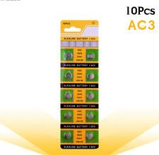 10pcs/pack AG3 LR41 392 Button Batteries SR41 192 Cell Coin Alkaline Battery 1.5