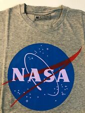 NASA Space Symbol Astronaut Logo Unisex TShirt Light Grey AU STOCK FREE SHIPPING