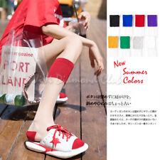 Fashion Women Transparent Ultra Thin Crystal Silk Sheer Mesh Knee High Socks