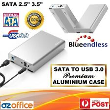"Aluminium SATA 2.5"" 3.5"" to USB 3.0 Hard Drive Enclosure Case HDD Desktop Box"
