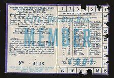 1961 North Melbourne Membership season Ticket Kangaroos