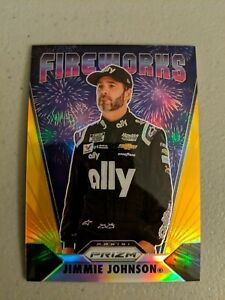 Jimmie Johnson 2020 Prizm Fireworks Gold 9/10
