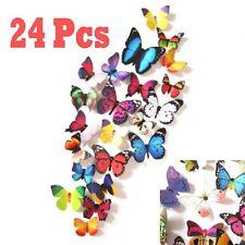 24pz 3D Motivo Farfalle Decalcomania Adesivi Parete Arte