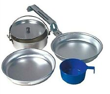 Personal Lightweight Aluminum Mess Kit Camping Military Survival Compact Cook