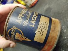 VINTAGE HUDSON TIN CAN LACQUER APPROVED STEP DOWN HORNET WASP ESSEX TERRAPLANE
