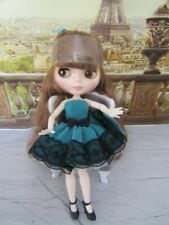 Neo Blythe Doll -Customized Shiny Nbl Face-Bjd With Outfit Clone New!