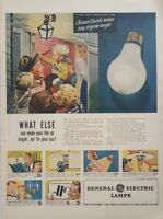 1948 GE Light Bulbs 1950s Vintage Wall Art Poster Print Ad